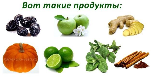Ингредиенты для блюда Тыква с черносливом