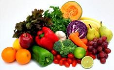 Овощи и фрукты для правильного питания