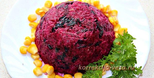 Салат из свеклы с черносливом