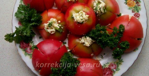 Готовое блюдо Фаршированные помидоры