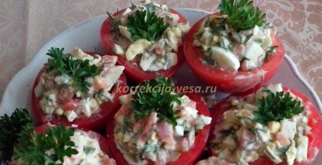 Как быстро приготовить фаршированные помидоры