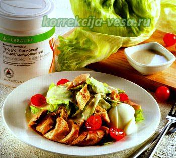 Малокалорийный салат Цезарь