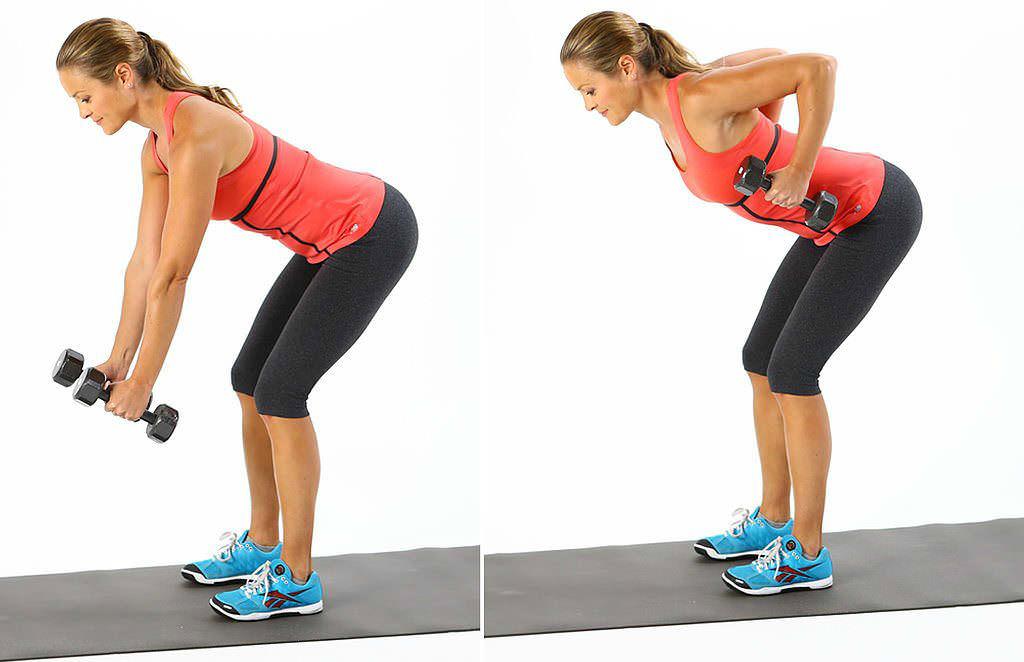 Занятия с гантелями для мышц