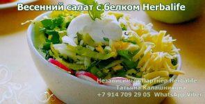 Простой весенний салат с белком