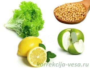 Ингредиенты для салата с куриной печёнкой