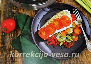 Как питаться когда худеешь - рыба на овощной подушке
