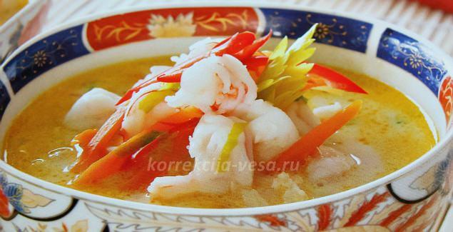 Как готовить кокосовый Тайский суп