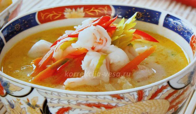 Кокосовый Тайский суп