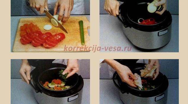 Готовим блюда из рыбы с овощами