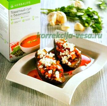 Низкокалорийное блюдо из баклажан