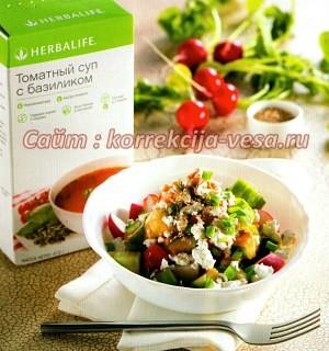 Овощи с творогом и томатным соусом