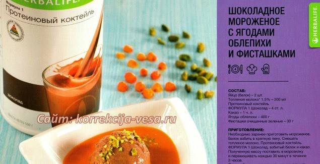 Готовим сладости дома / Низкокалорийное мороженое рецепт