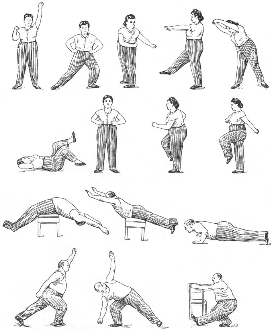 Упражнения для людей с избыточным весом