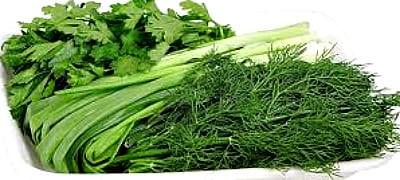 Зелень для весеннего салата